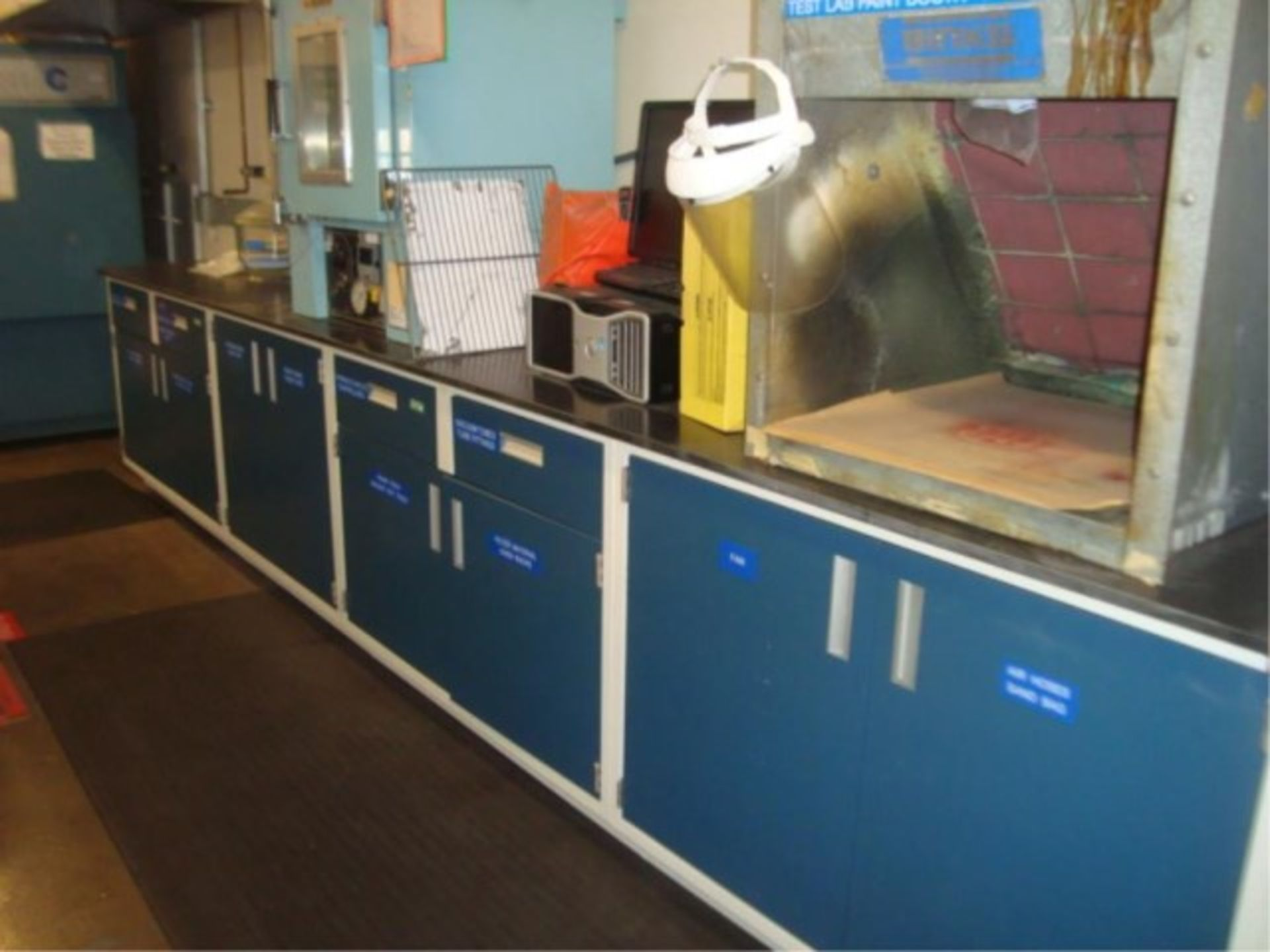 Lot 103 - Corrosion Resistant Lab Counter/Cabinets