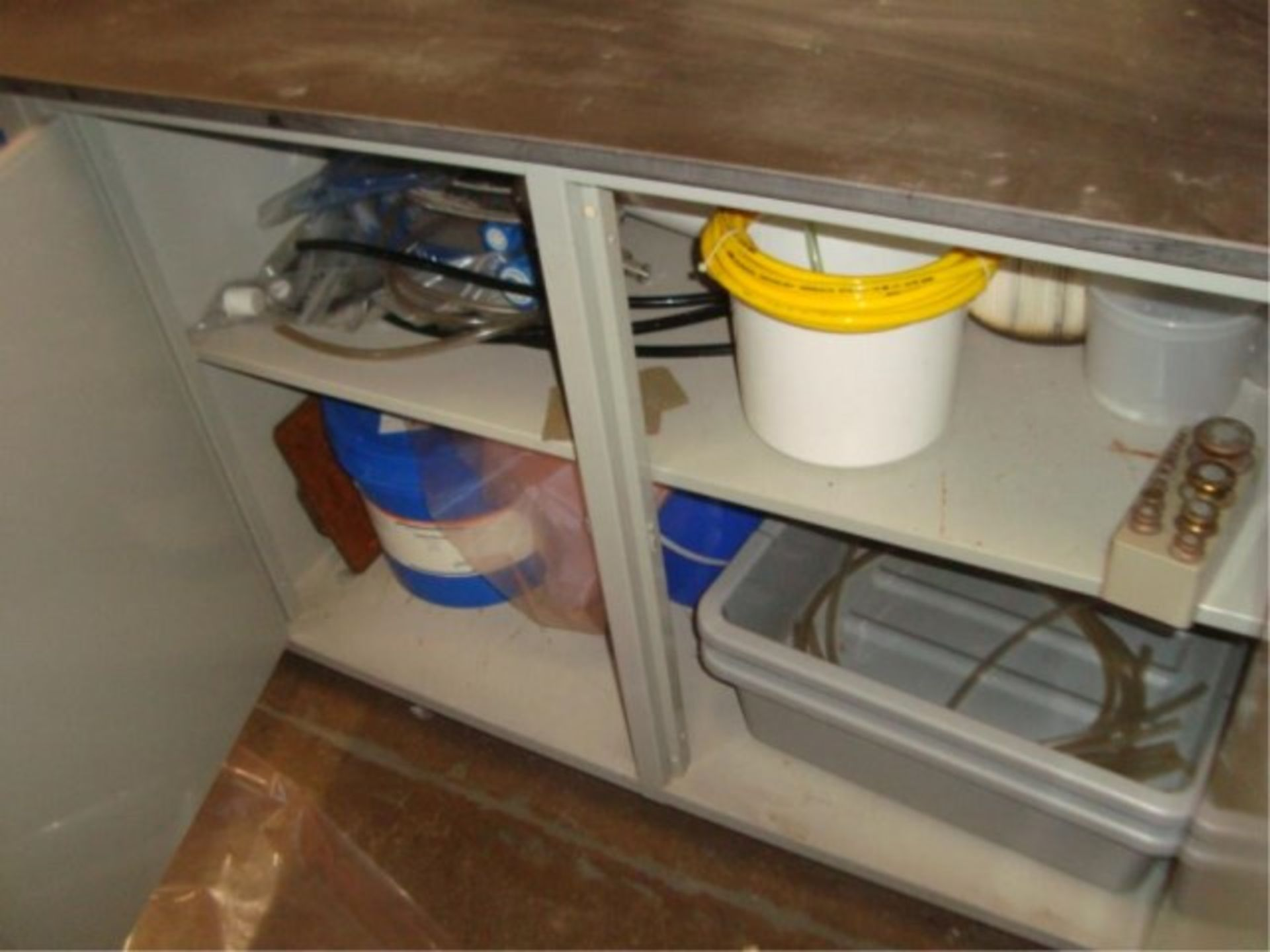 Lot 107 - Corrosion Resistant Lab Counter/Cabinets