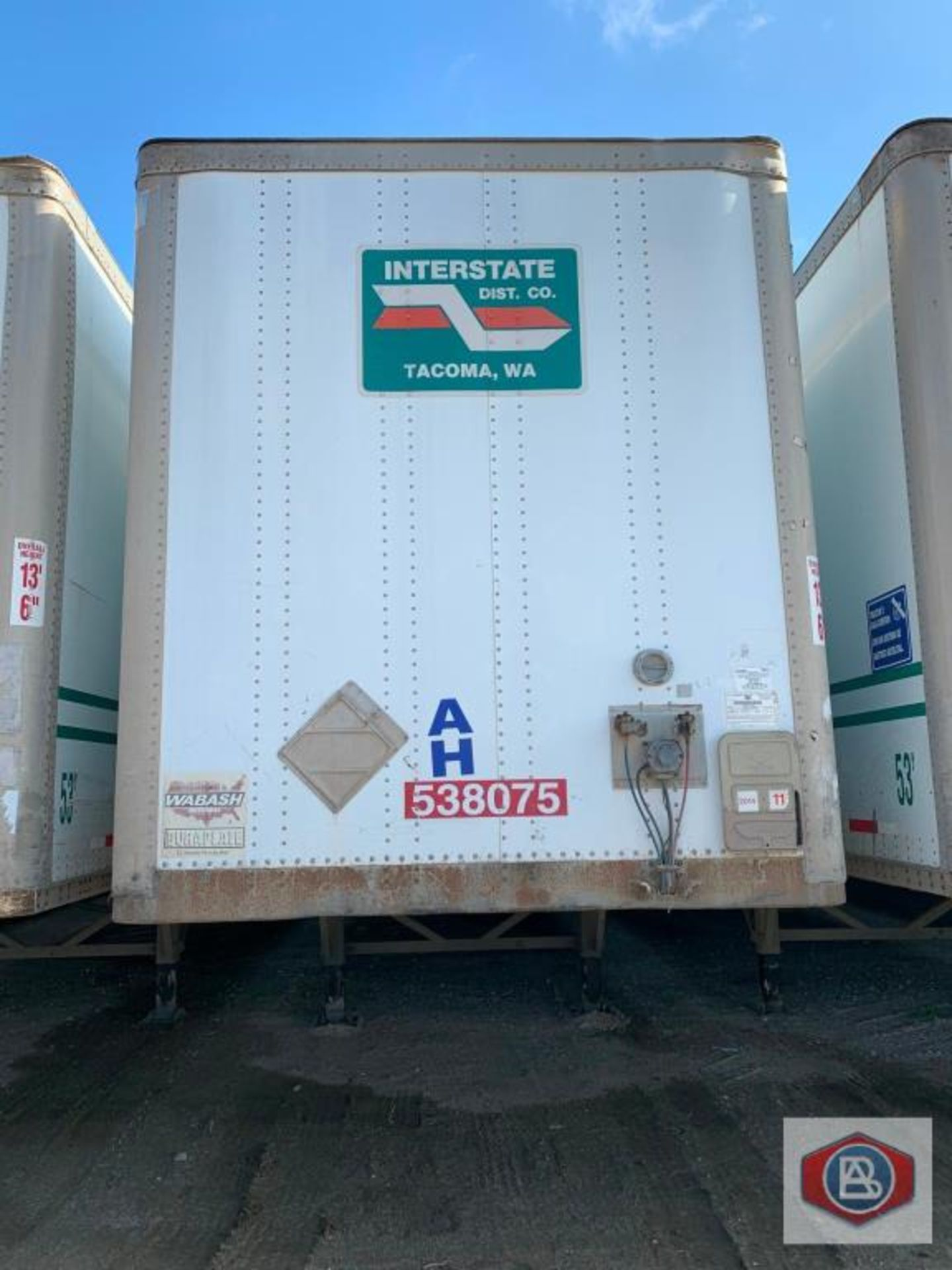 2002 Wabash DuraPlate Logistics Van Trailer 53 ft.