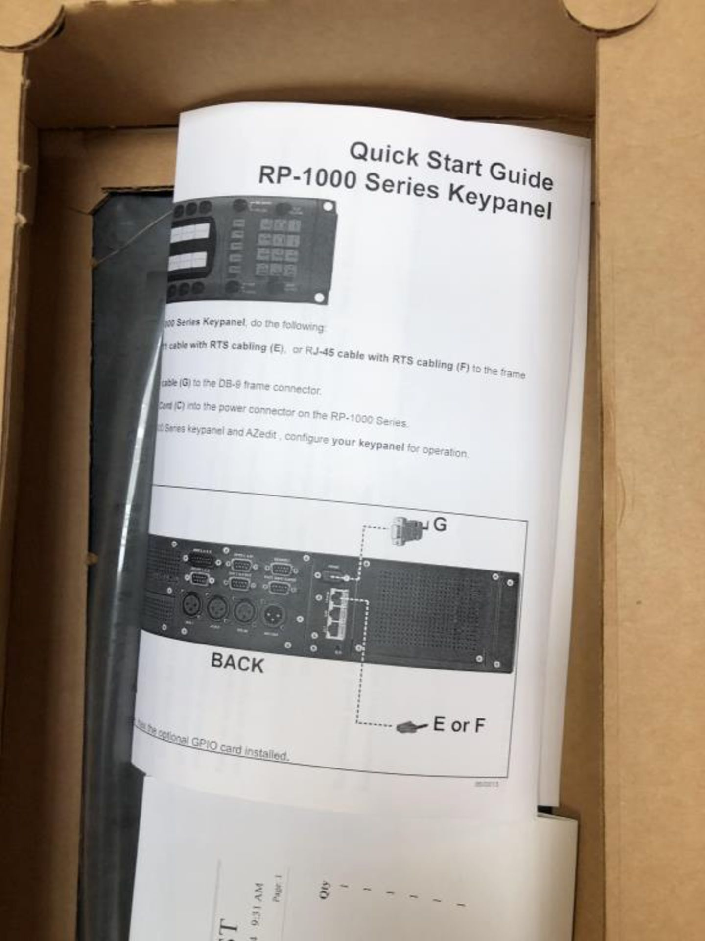 RP-1000 Series Keypanel - Image 7 of 11