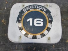 Section 16 Sign