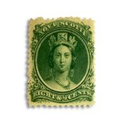 NOVA SCOTIA 1860 EIGHT CENTS GREEN