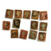 COLLECTION VICTORIA PENNY RED STAMPS
