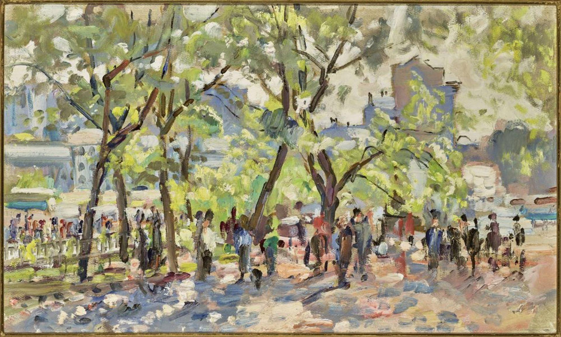 Los 43 - Grigoriev Vasiliy (1895-1982) - Souvorovsky bd, Moscow Oil on cardboard 44.5 x 74.5 [...]