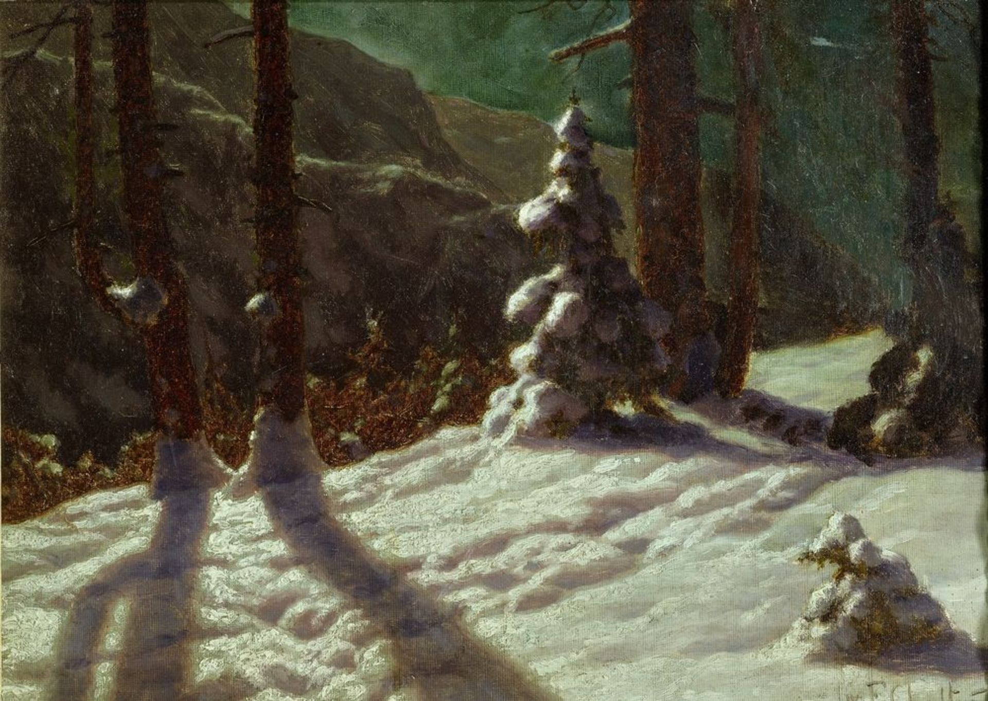 Los 4 - IVAN FEDOROVICH CHOULTSE (1874 - 1939) - Winter in the forest. 1925 Signed and [...]