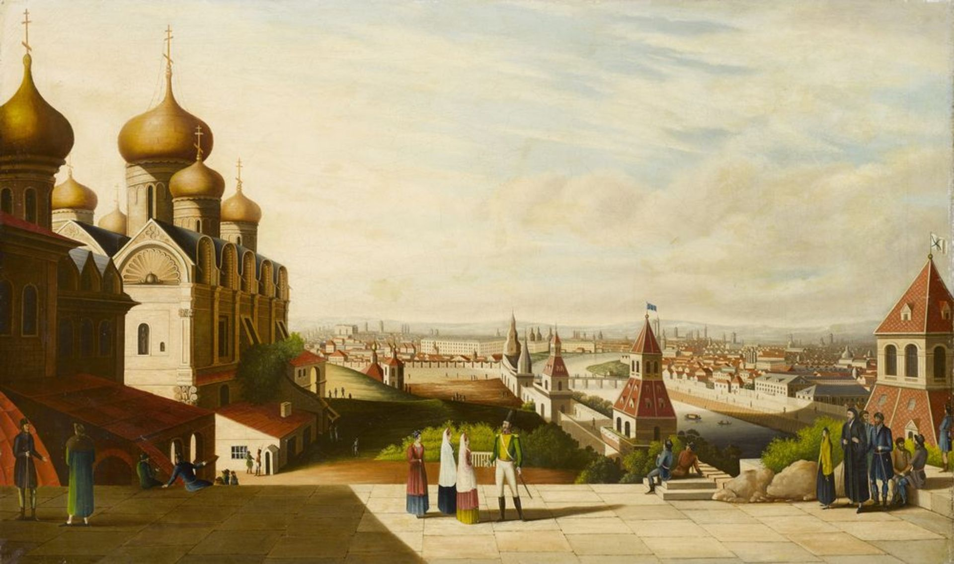 Los 1 - After Gérard de la Barthe (1730-1810), early XIX c. - View Of Moscow signed with [...]