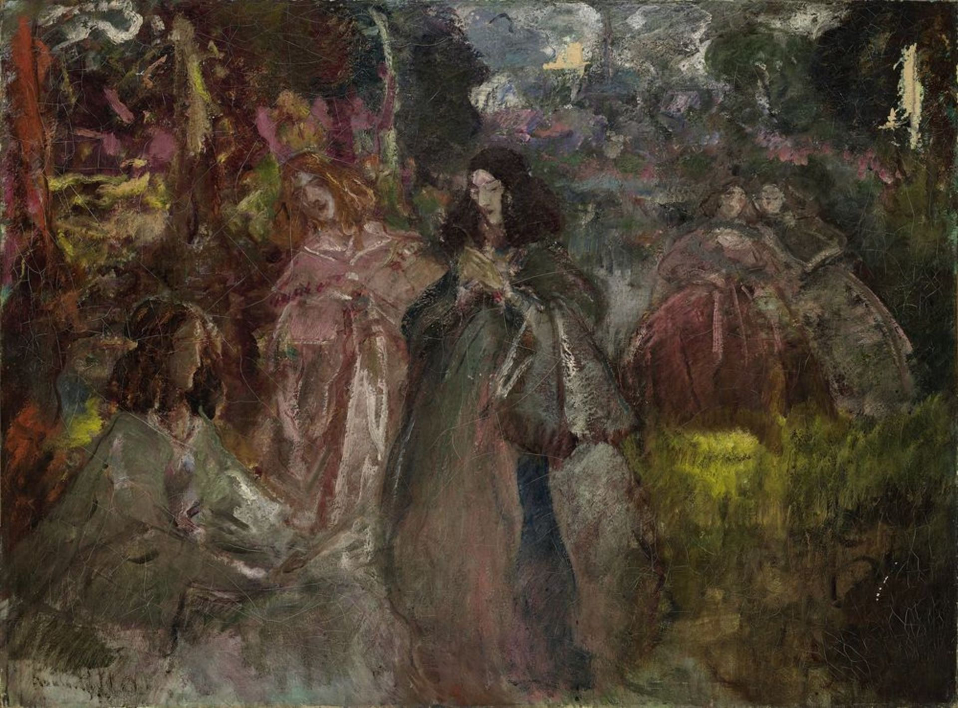 Los 42 - Constantin Kousnetsoff (1863–1936) - Court ladies on a forest walk signed [...]