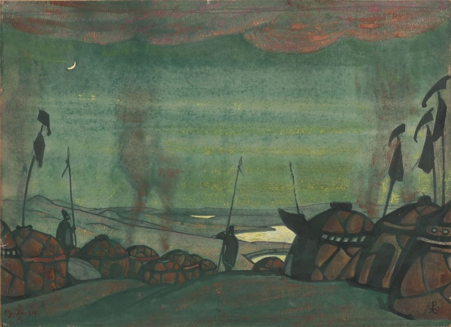 Los 18 - Nikolay Roerich (1874-1947) - Stage design for the polovtsian dances from the [...]