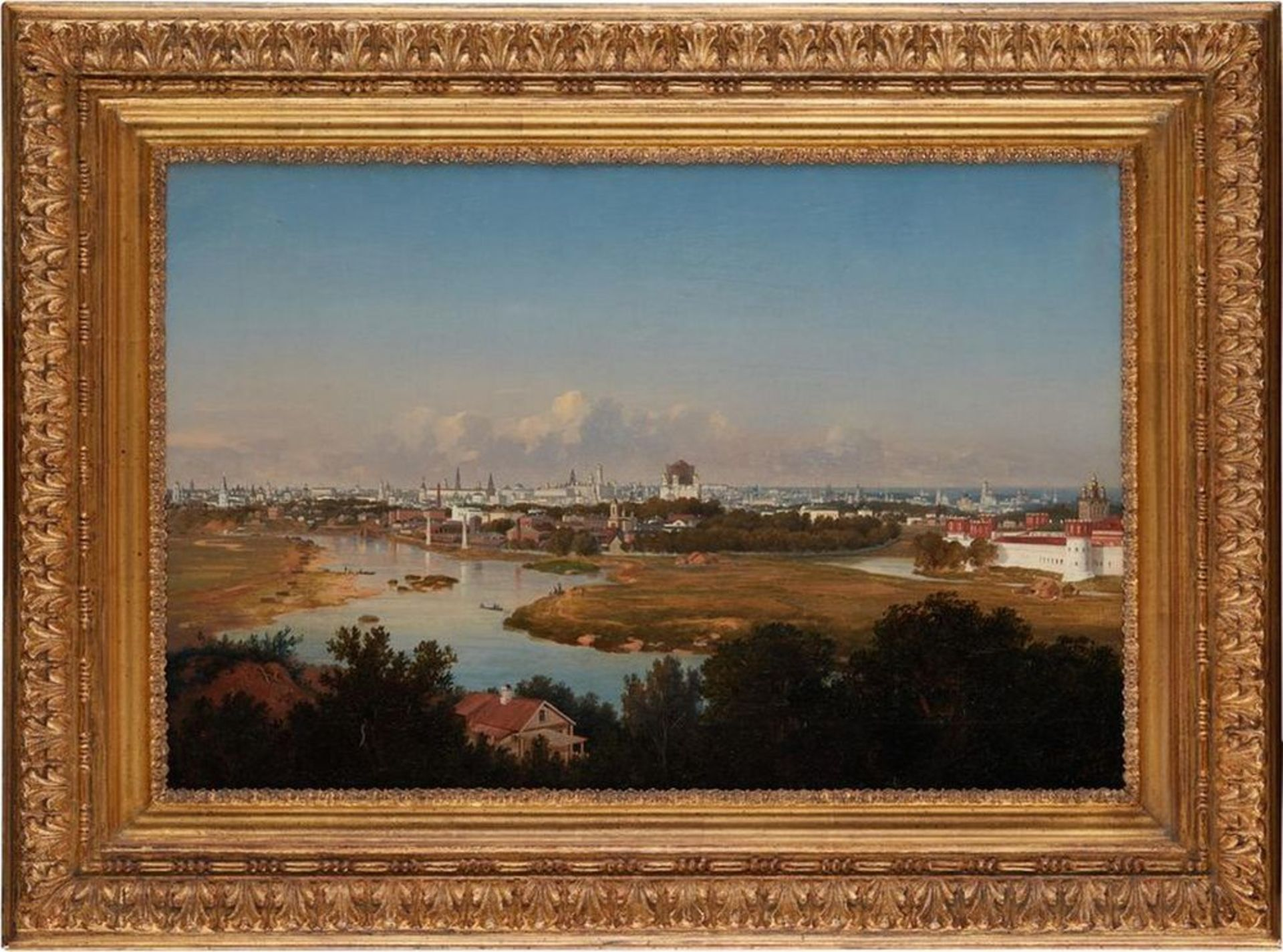 Los 2 - VLADIMIR FEDOROVICH AMMON (1826-1879) - View of Moscow from Vorobyovy Gory Signed [...]