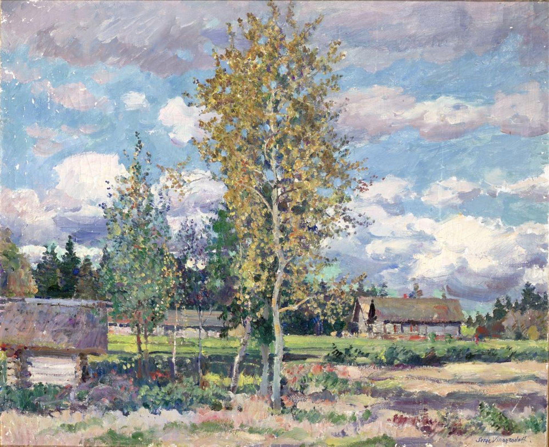 Los 3 - Sergey Vinogradov (1869–1938) - Birch Trees on a Sunny Day signed 'Serge [...]