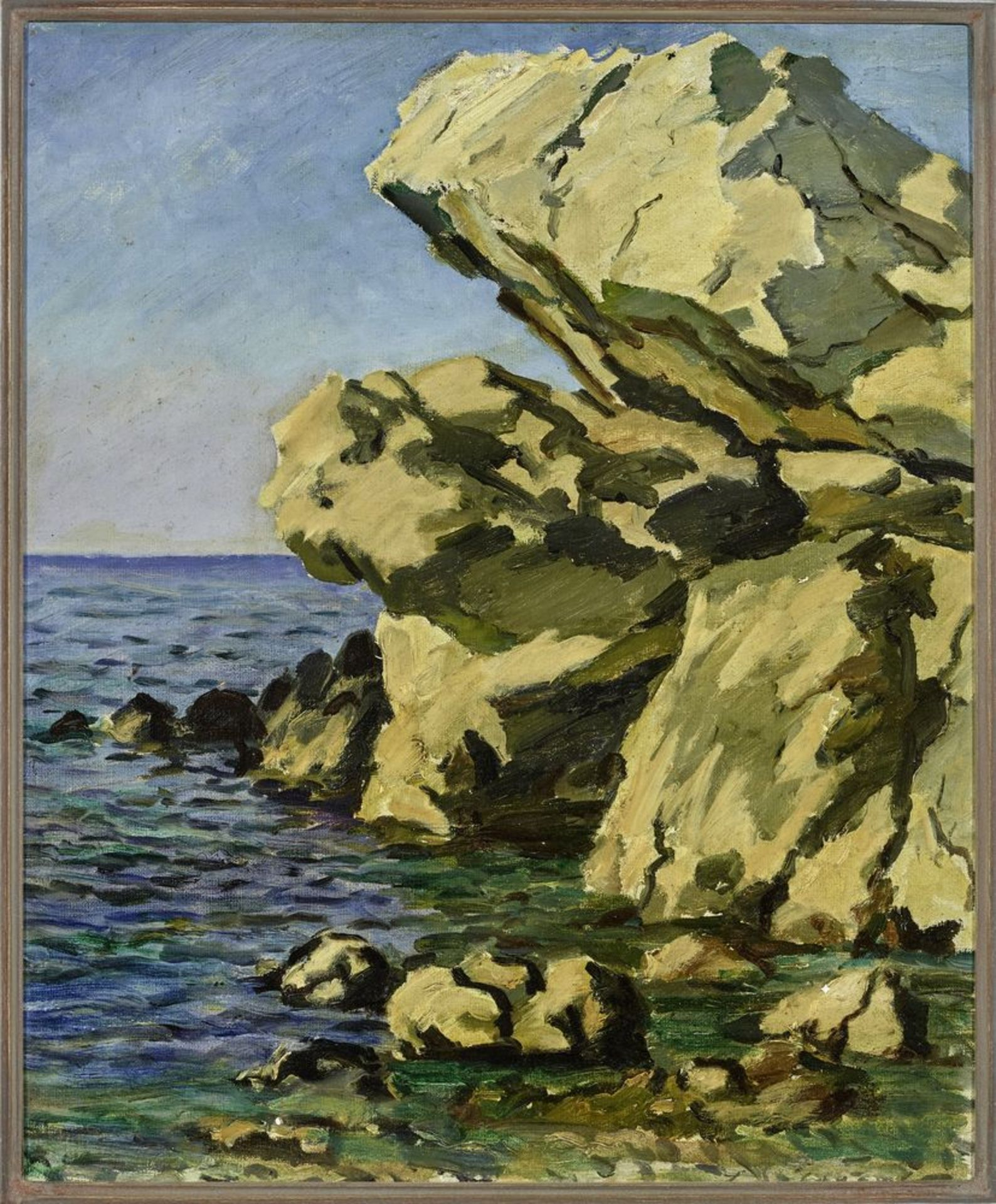 Los 53 - Leonid Romanovich Sologub (1884-1956) - Mediterranean Seascape Signature (on the [...]
