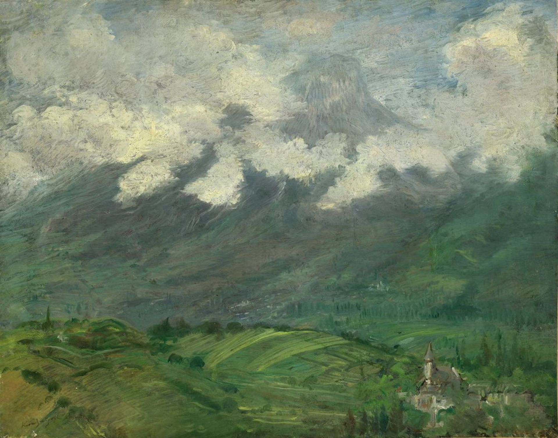 Los 50 - Constantin Kousnetsoff (1863–1936) - Clouds on the mountain signed 'Kounetsoff [...]