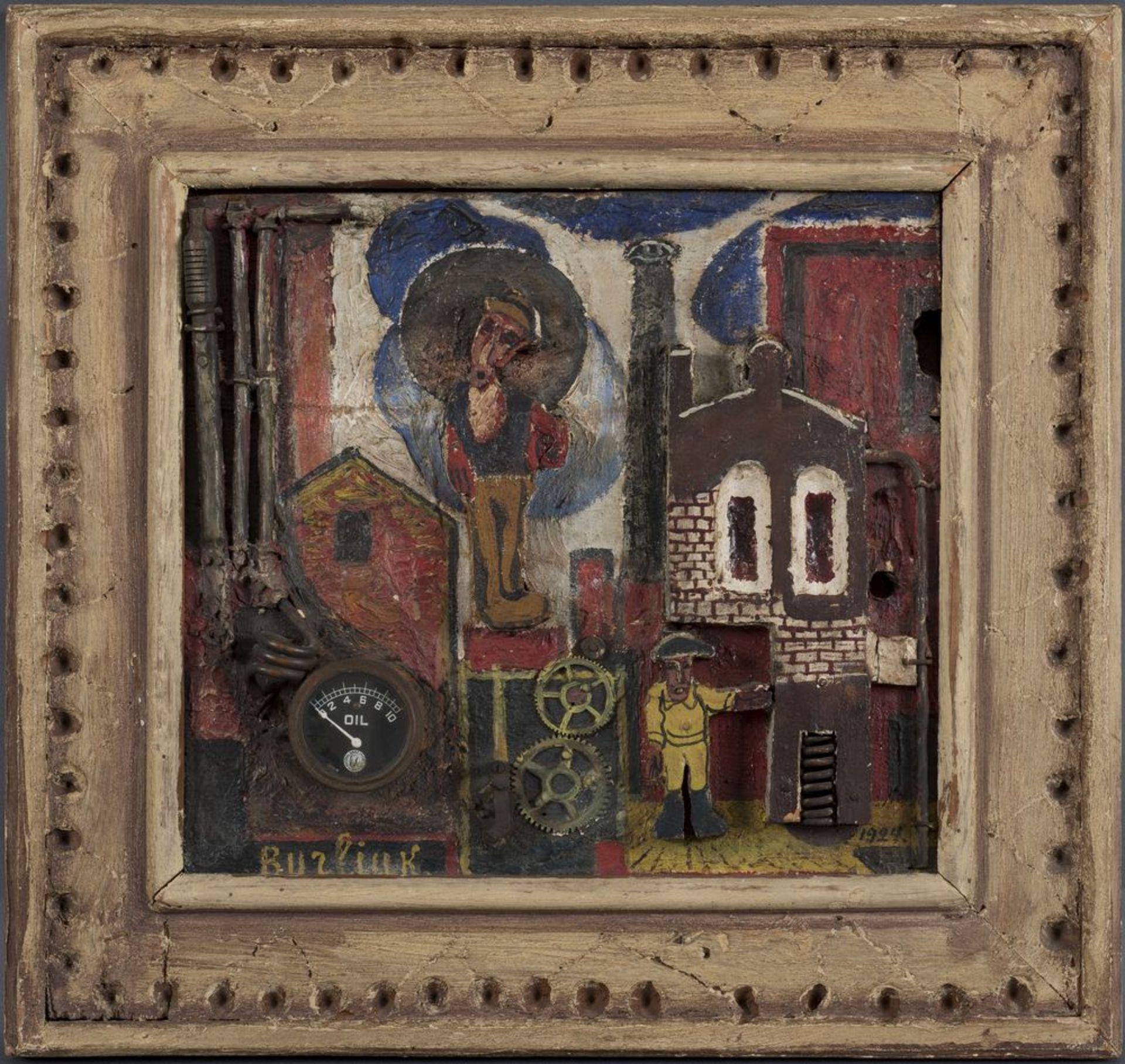 Los 22 - David Burliuk (1882-1967) - Contre-Relief. Factory signed 'Burliuk' (lower left) [...]