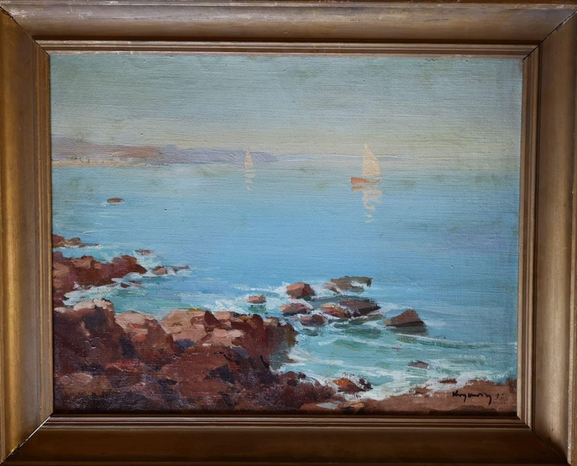 Los 58 - Mykola Vasyl KRYCHEVSKY (1898-1961) - White 'Sailboats At Sea, 1945 signed and [...]