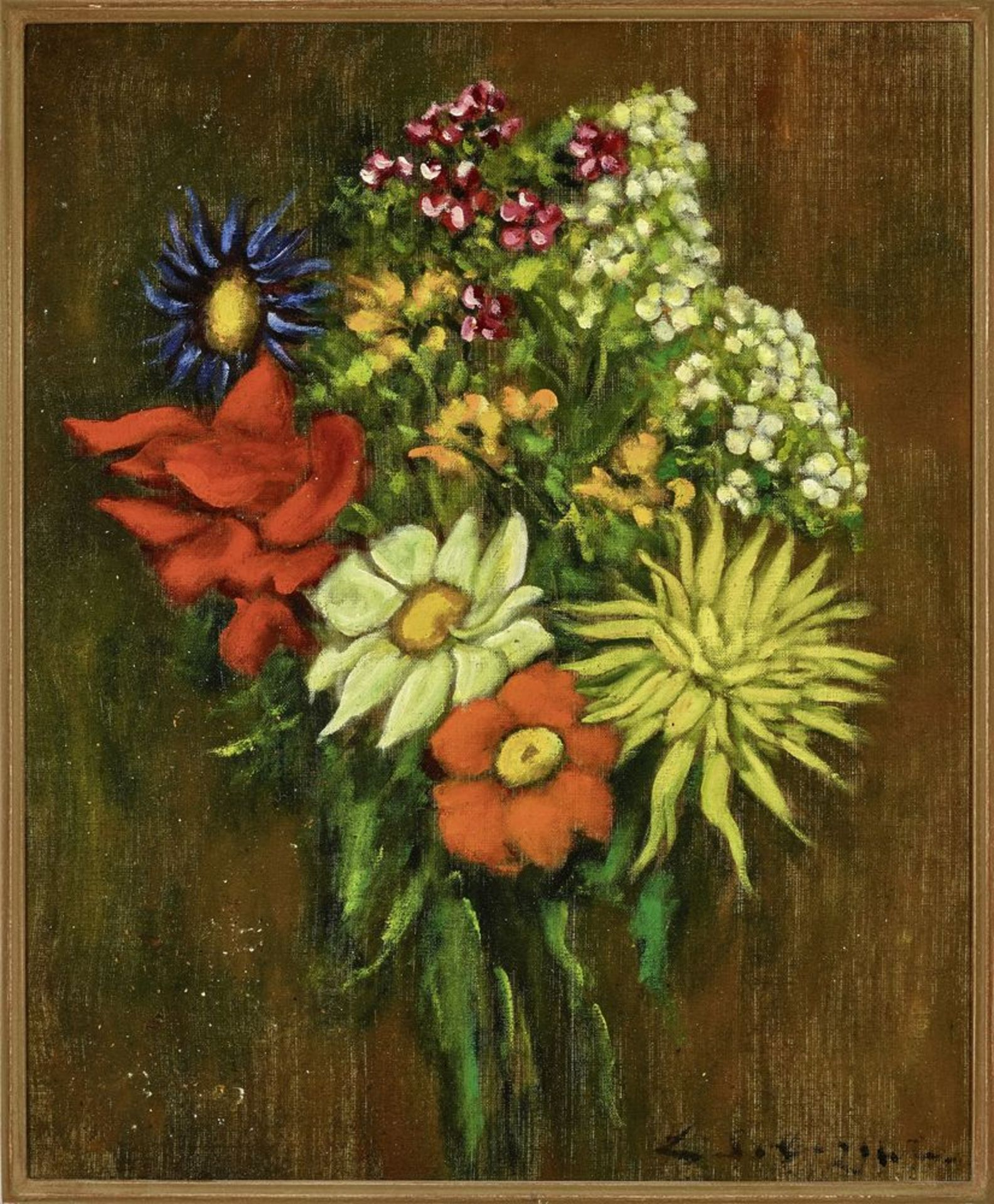 Los 55 - Leonid Romanovich Sologub (1884-1956) - Bouquet of flowers Signed 'Sologub' (lower [...]