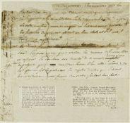JEAN-PAUL MARAT. 1743-1793. Autograph manuscript (1791). - A fragment of one of his [...]