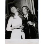 SALVADOR DALI. 1904-1989. A set of 4 vintage photographs - 1964-1967. One with [...]