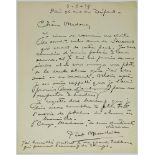 MONDRIAN (PIET). 1872-1944. Autograph letter with envelope - Signed «Piet [...]