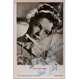 ROMY SCHNEIDER. 1938-1982. Portrait postcard autograph with signature - [...]