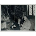 COCTEAU, JEAN. 1889-1963. Collection of 8 press photographs from his visit to Hamburg [...]
