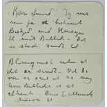 MUNCH EDVARD. 1863-1944. Autograph letter - Autograph letter with signature to his [...]