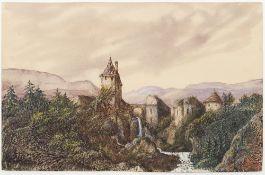 SAND (AURORE DUPIN, DITE GEORGE). 1804-1876 Dendrite watercolors. 1876 - 2 original [...]