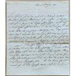 RADETZKY JOSEPH WENZEL, VON RADETZ. 1766-1858. Autograph Signed letter - [...]