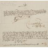 ISABELLE I OF CASTILLE. 1451-1504. Signed letter, November 13, 1500 - The basis for [...]