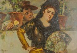 Antonio de Brugada (1804-1863) Espanola - Signed (lower left) Oil on panel 50 x [...]