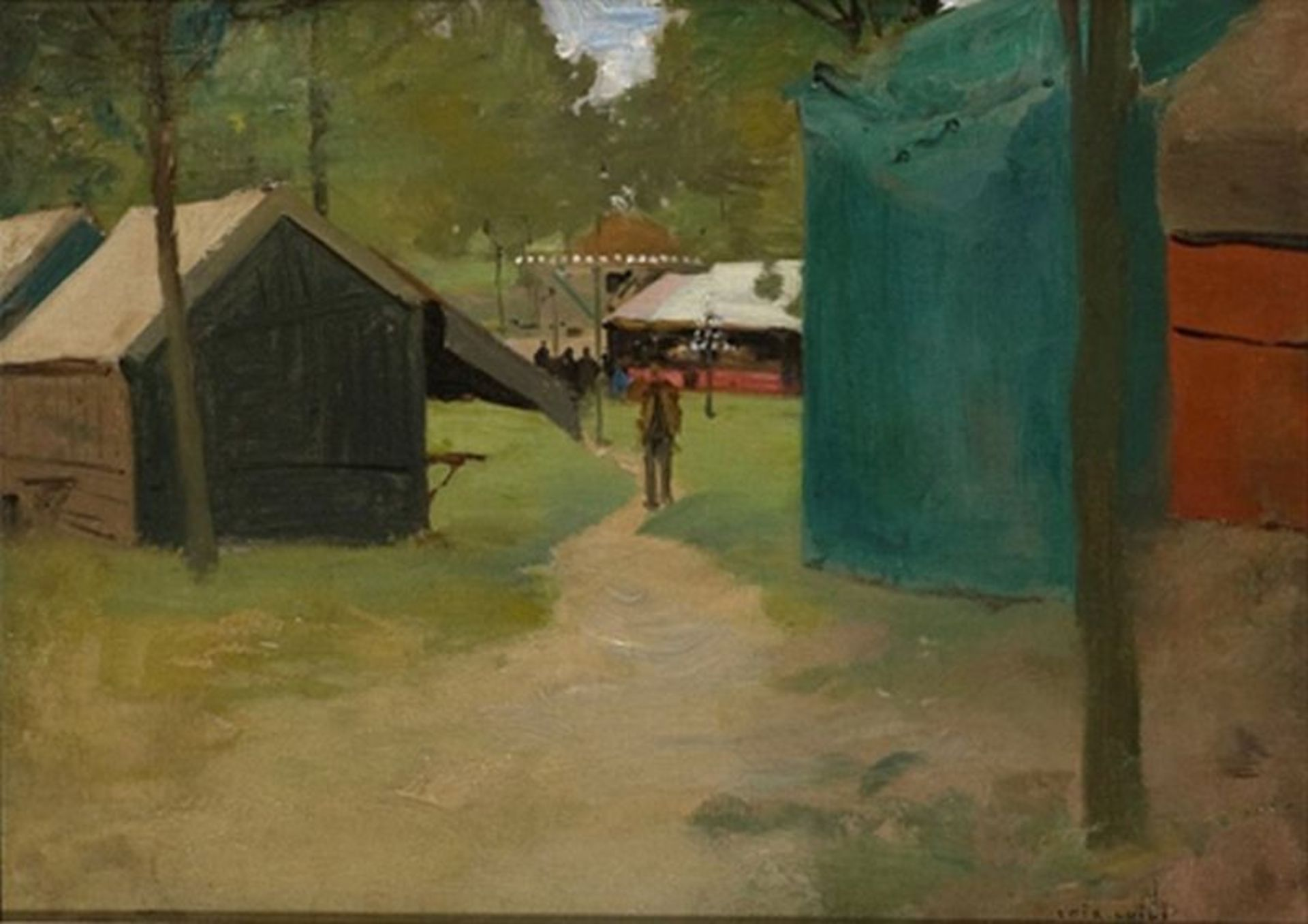 Los 507 - LUIGI LOIR (1845 – 1916) Figures in a Park - Figures in a Park Signed 'Loir [...]
