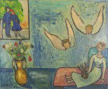 HYLDA TODE (XX) L'inspiration du peintre - Signed and dated 'Hylda Tode 1958' [...]