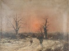 THÉOPHILE LOUIS DEYROLLE (1844-1923) Winter landscape - Signed 'Th Deyrolle ' [...]