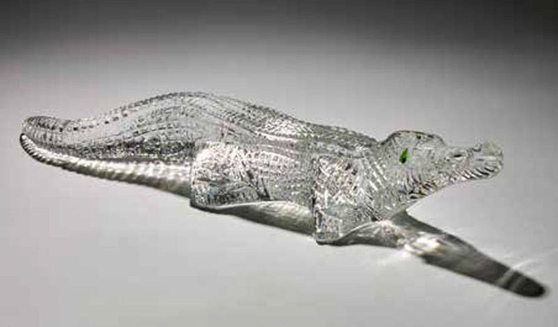 BACCARAT CROCODILE - Crystal crocodile shedding one green crocodile tear, extremely [...]