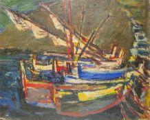 SIMON CLAUDE VANIER (1903-1958) Boats in a port Cadaques - Signed 'Vanier' (lower [...]