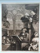 The sleeping faithful, engraving, 1736 - Etching and burin Plate: 228 by 288 [...]