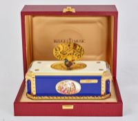 BIRD ROTATING SINGING BOX Enameled music box, Reuge Music Saintes-Croix, [...]