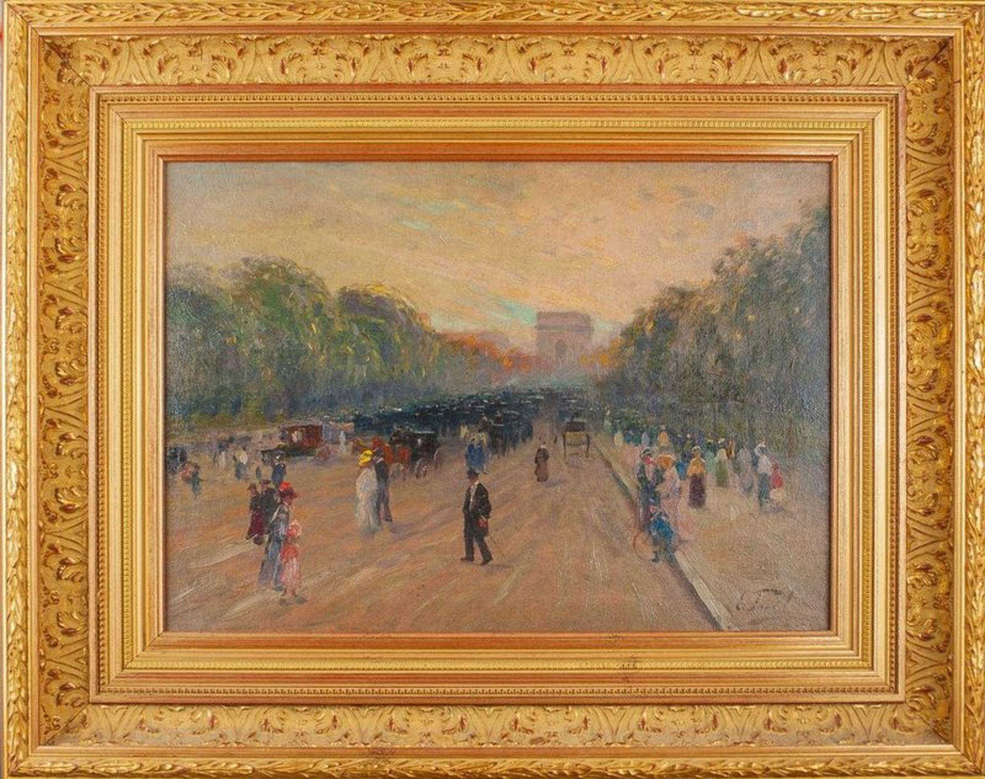 Los 547 - ELIE ANATOLE PAVIL (1873-1948) Arc de Triomphe - Signed (lower right) Oil on [...]