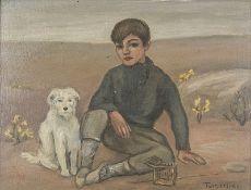 MIGUEL TUSQUELLAS CORBELLA (1884-1969) Contemplation - Signed 'Tusquellas', [...]
