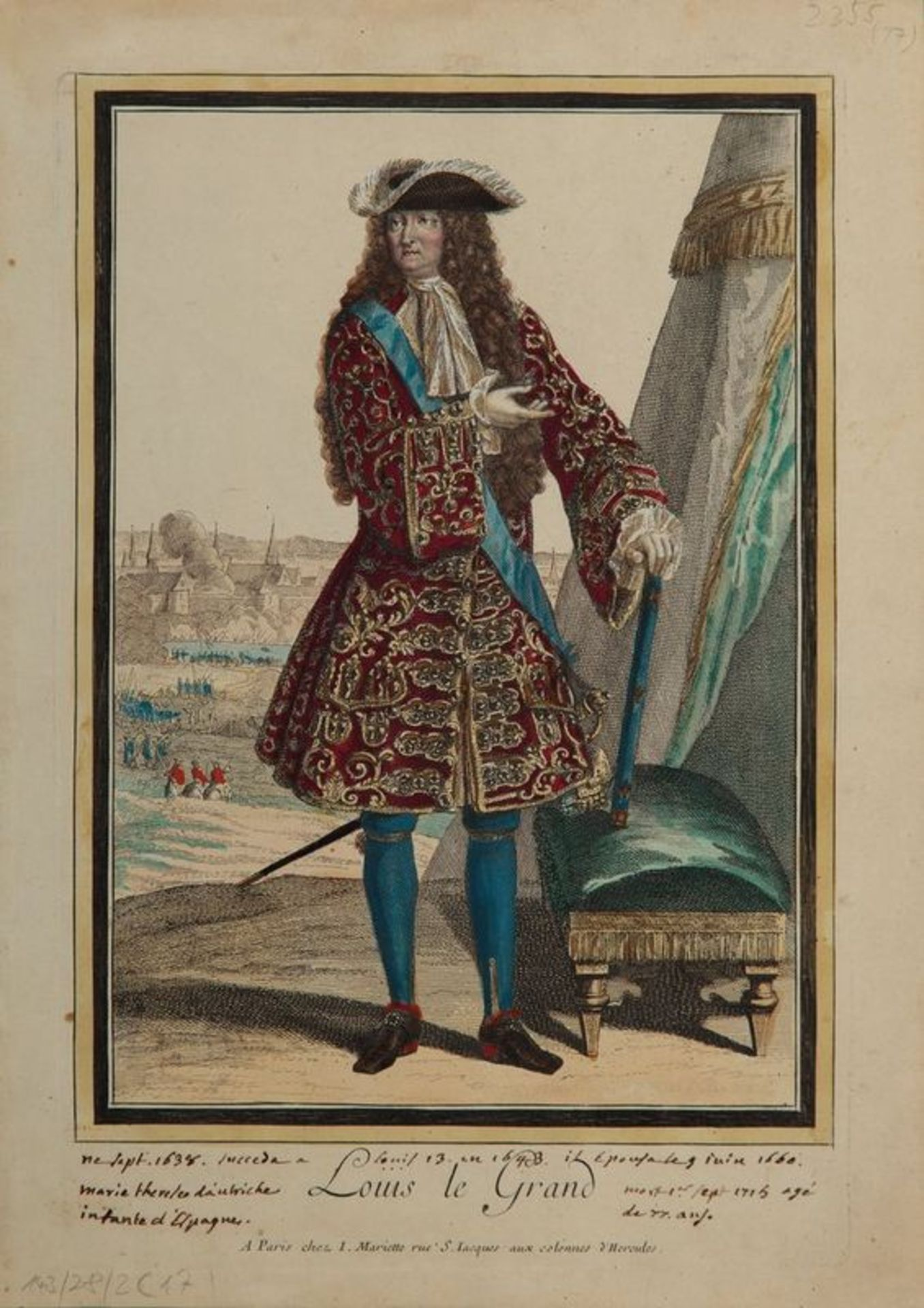 Los 575 - АRNOULT, BONNART, MARIETTE, TROUVAIN etc. Louis XIV and his family - Engraving and [...]