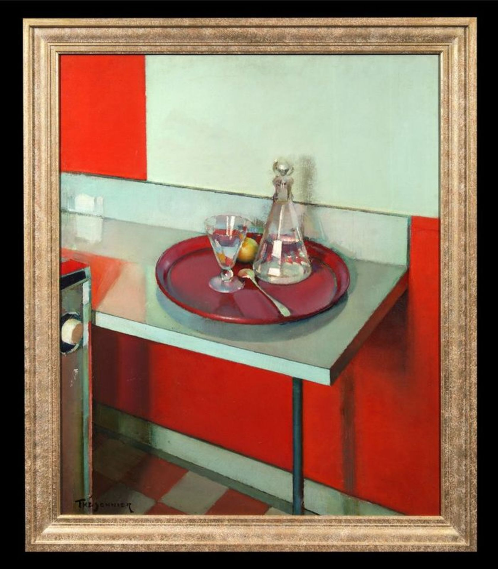 Los 556 - ALFRED THESONNIER (1898-1973) Le Plateau Rouge - Signed lower right Oil on [...]