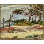 Jean PESKE (1870-1949) The Pines in Provence - Signed (lower right), inscribed and [...]