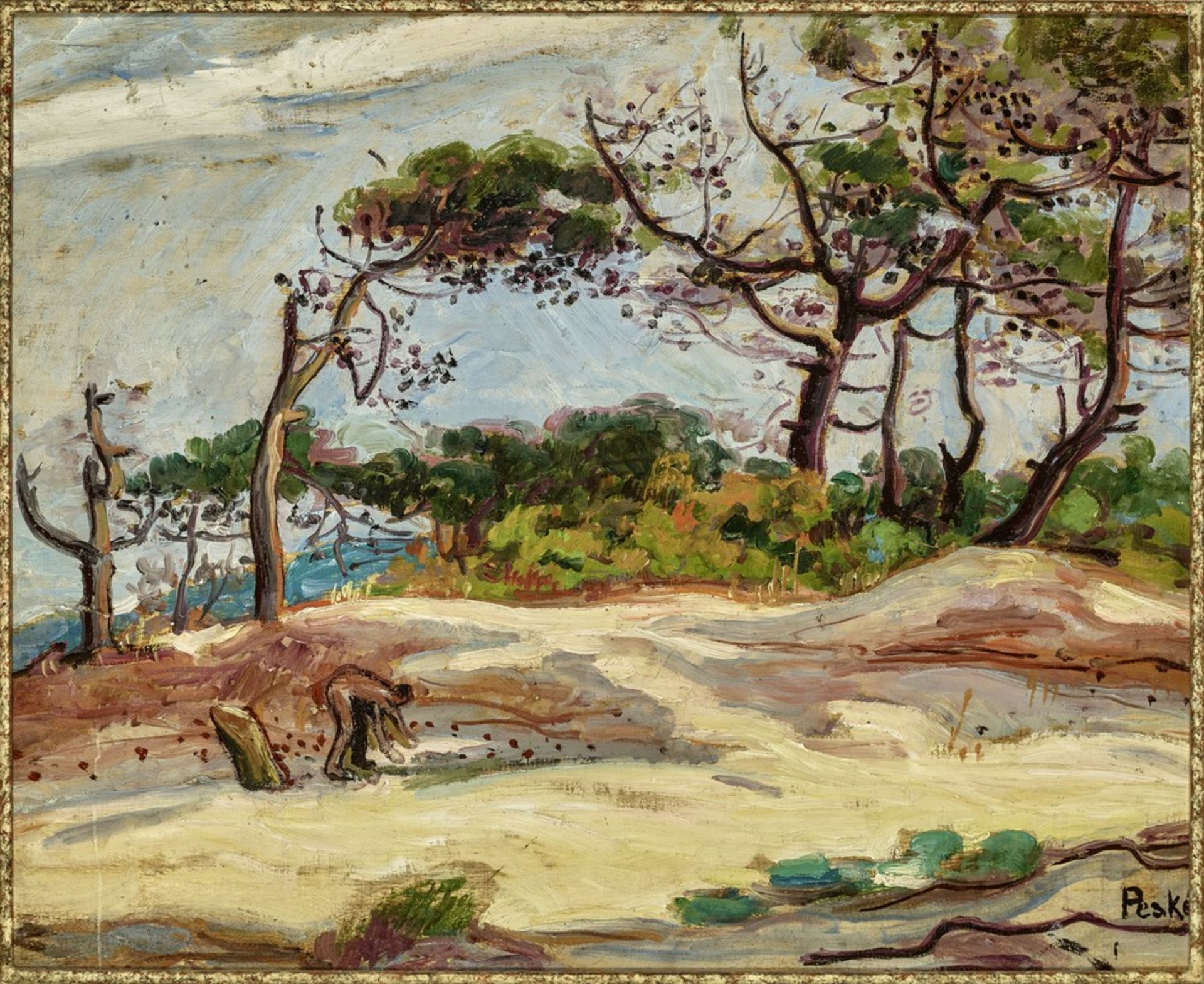 Los 544 - Jean PESKE (1870-1949) The Pines in Provence - Signed (lower right), inscribed and [...]