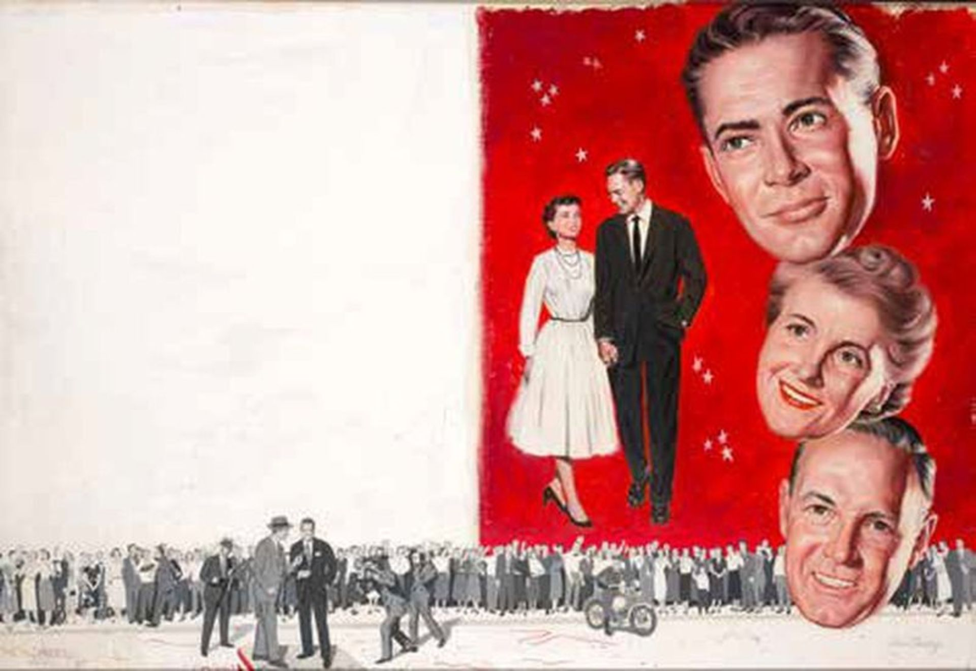 "Los 551 - VERNE TOSSEY (1920-2002) Story illustration - Montage ""Happy couple - The [...]"