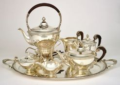 SILVER TEA AND COFFEE SERVICE SET FROM VIENNA BY ALEXANDER STURM - Silver set, 7 [...]