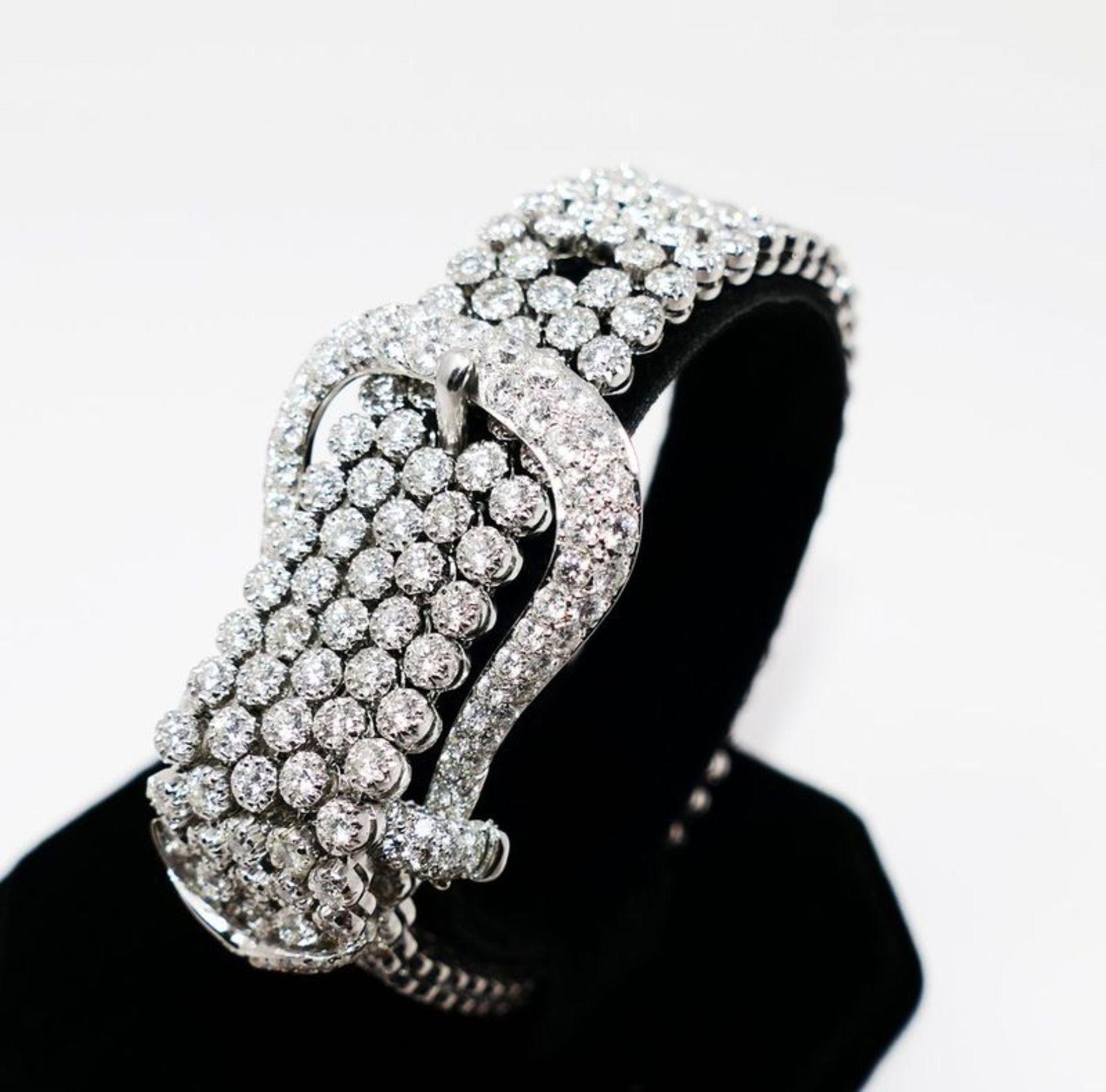 ELEGANT 25 CT BRACELET WITH DIAMONDS - 25ct, Valenza manufacturing (Italy) White [...] - Bild 4 aus 4