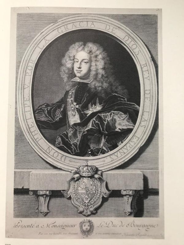 Pierre Drevet Philip V of Spain, engraving, 1702 - Firmin-Didot No. 41, Burin by [...]