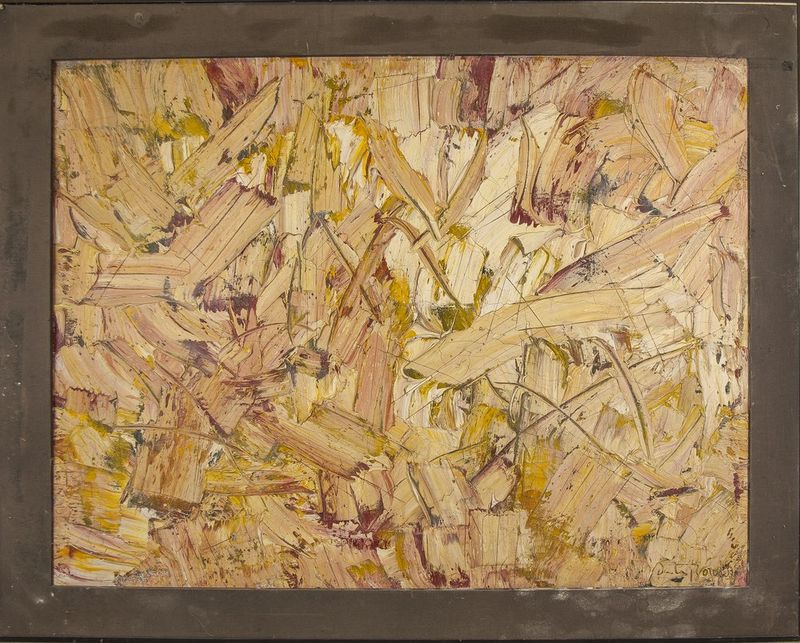 PATRICK BULON Abstraction - Signed 'Boudon' (lower right) Oil and mixed media on [...] - Bild 2 aus 2
