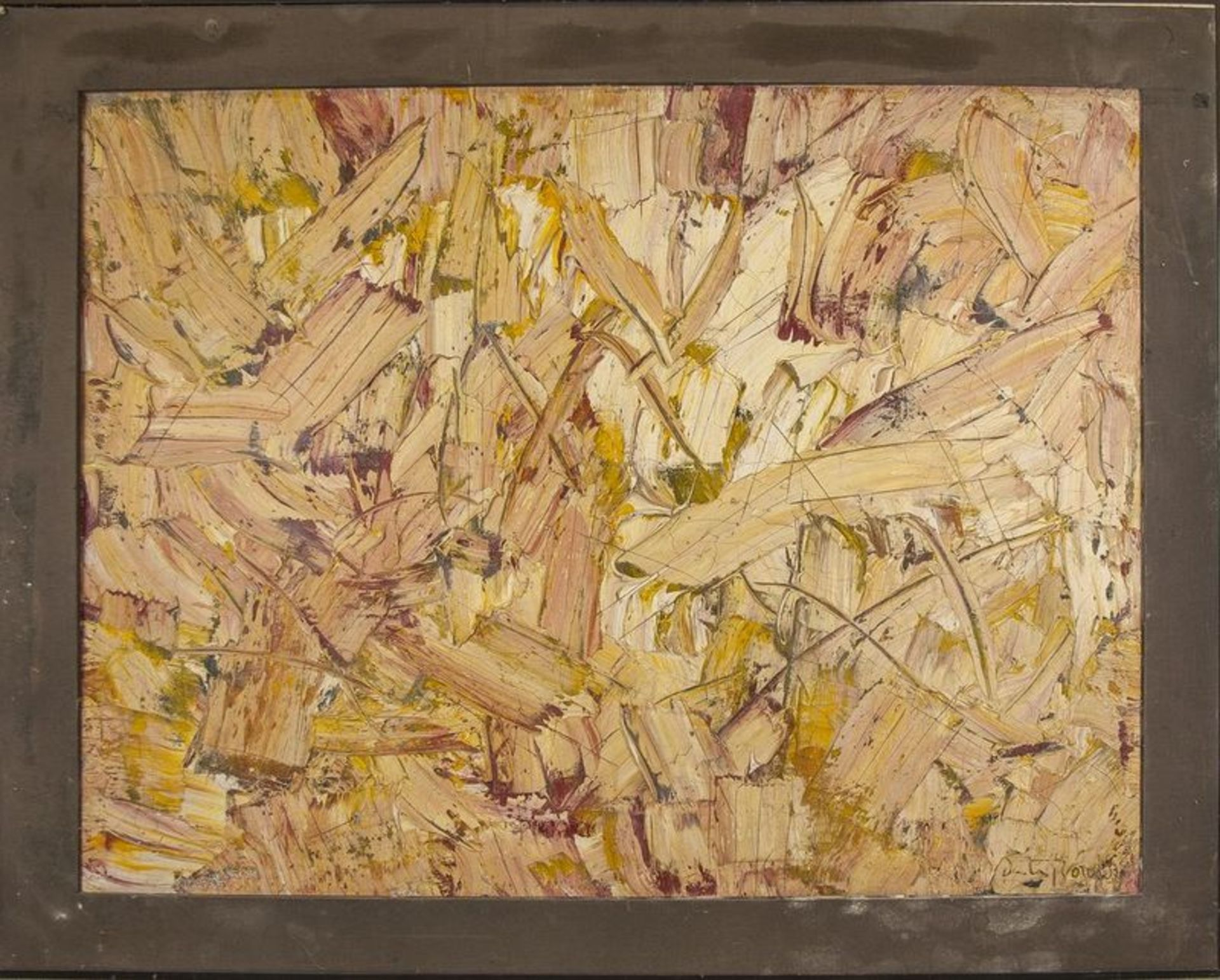 Los 588 - PATRICK BULON Abstraction - Signed 'Boudon' (lower right) Oil and mixed media on [...]