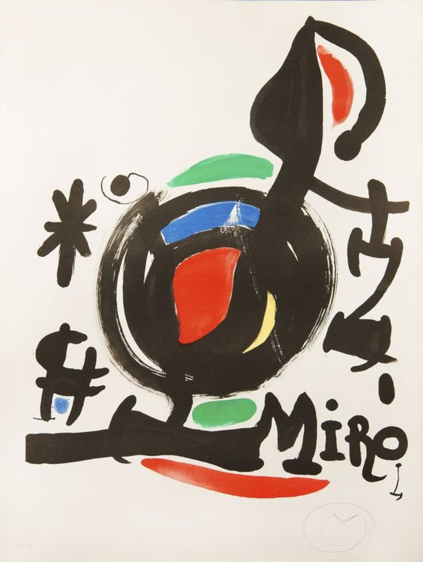 Los 555 - JOAN MIRÓ (1893 - 1983) Abstract - Signed with a monogram in Pencil 'M' [...]