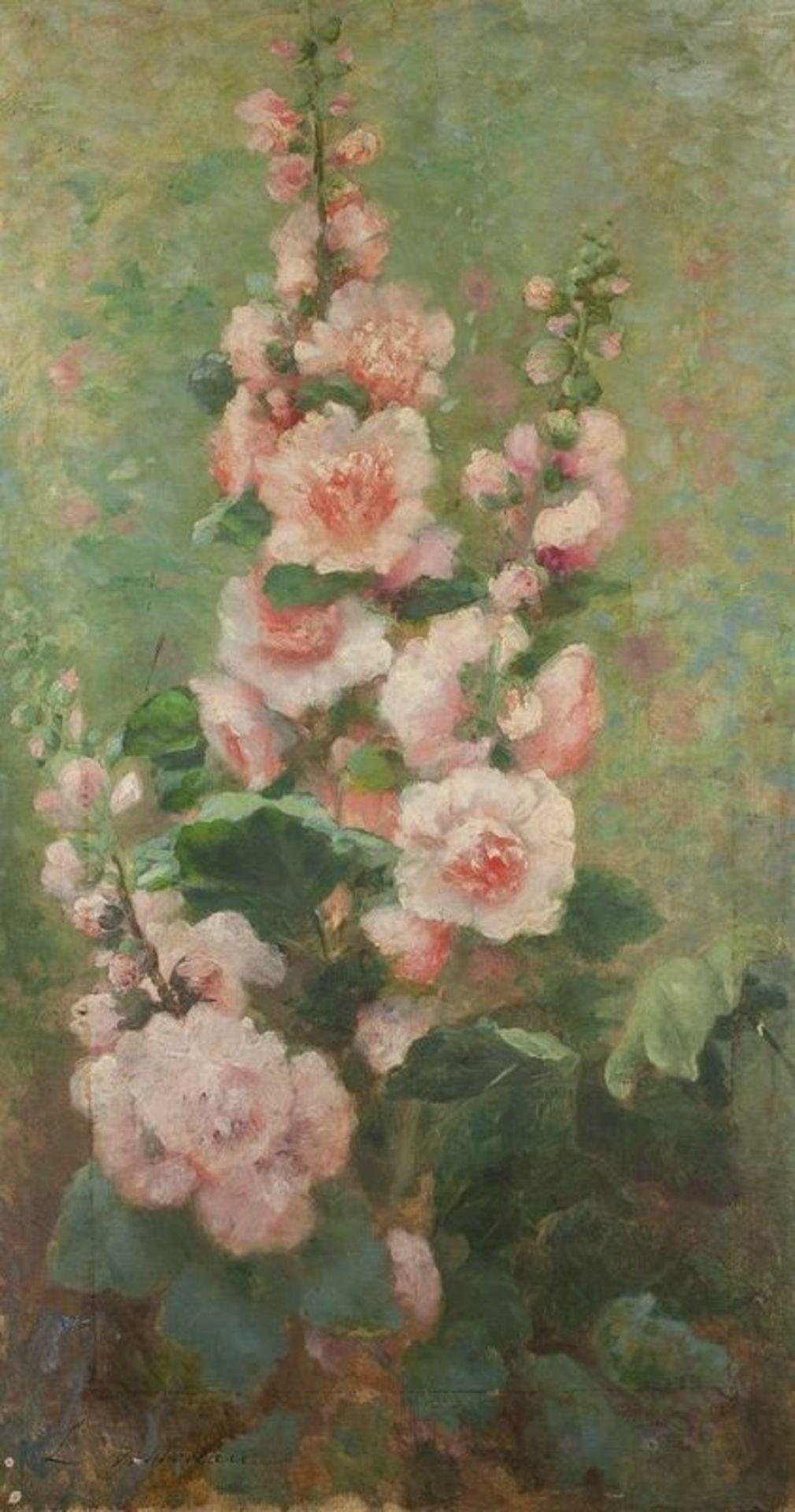 Los 611 - LÉOPOLDINE VILLOTEAU (XIX-XX) Flower bouquet - Signed 'L Volloteau' (lower [...]